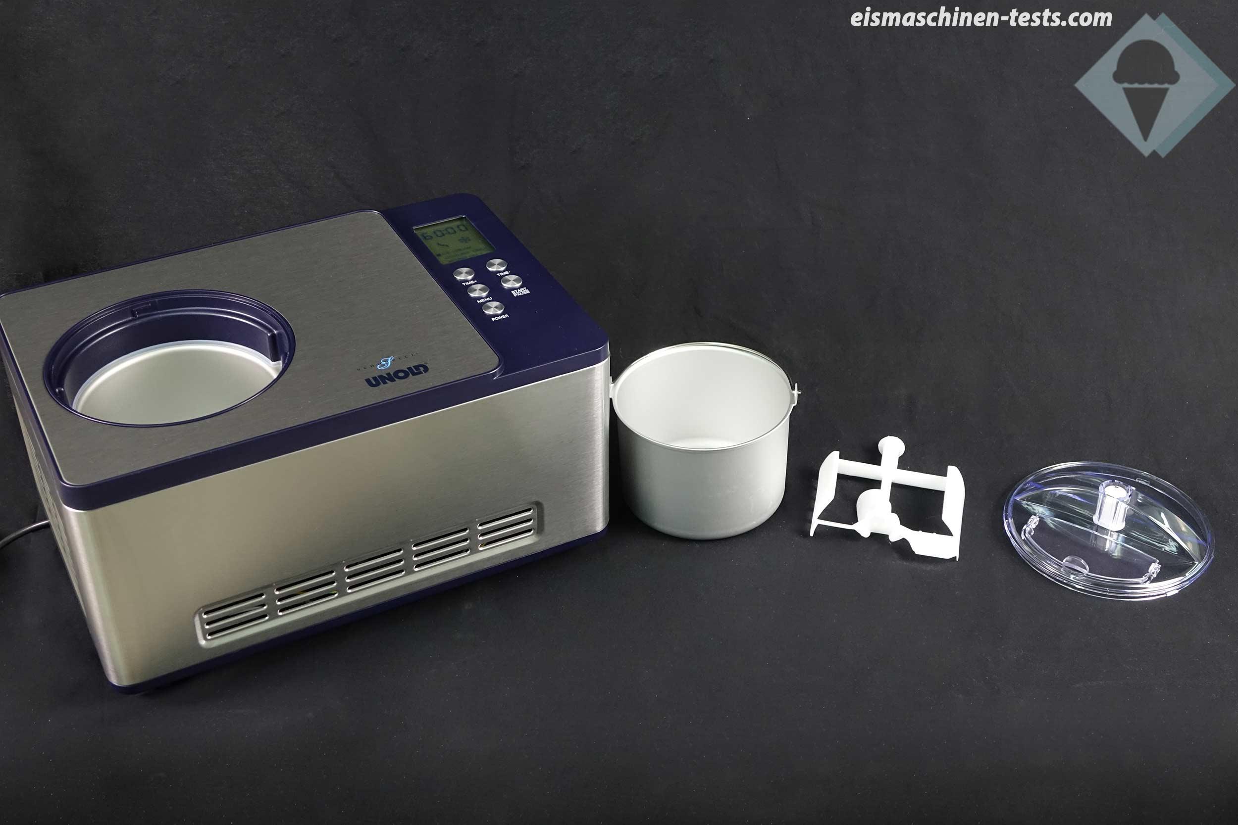 Produktbild-Unold-Schuhbeck-Eismaschine-LieferumfangTest-weit