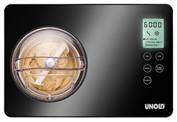 Unold 48845 Eismaschine Gusto 2 L mit digitalem Timer -
