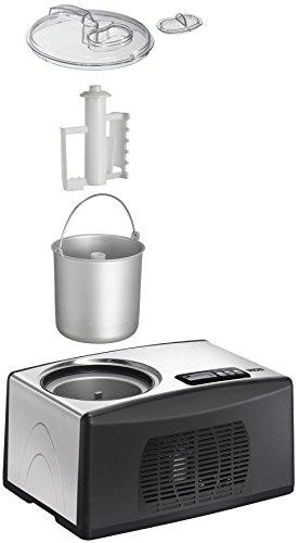 UNOLD Eismaschine Cortina, mit Kompressor, 1,5 Liter Eiscreme, 48806 -