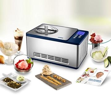UNOLD Eismaschine Schuhbeck exklusiv, mit Kompressor, 1,5 Liter Eiscreme, 48818 -