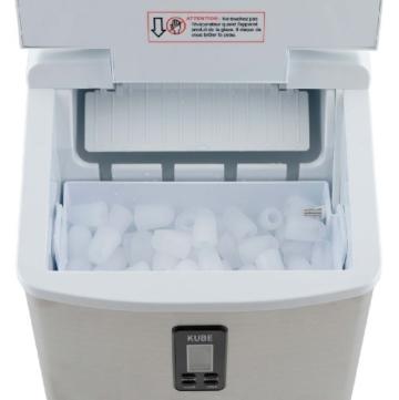 H.Koenig KB15 Eiswürfelmaschine circa 15 kg Eiswürfel pro Tag, 3 Eiswürfelgrößen wählbar, silber -