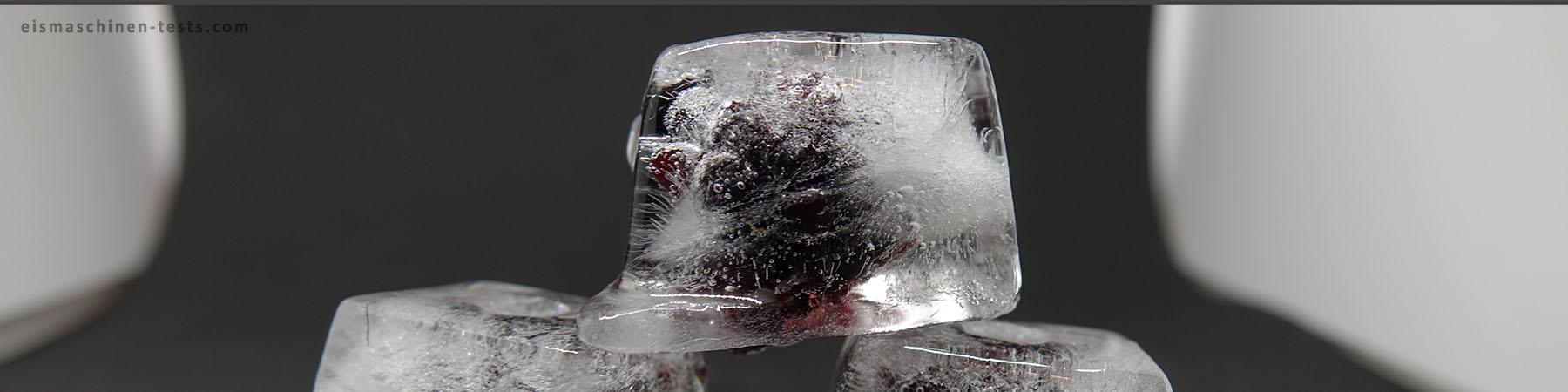 Brombeere Eiswürfel selber machen - Eismaschinen Tests com - Slider