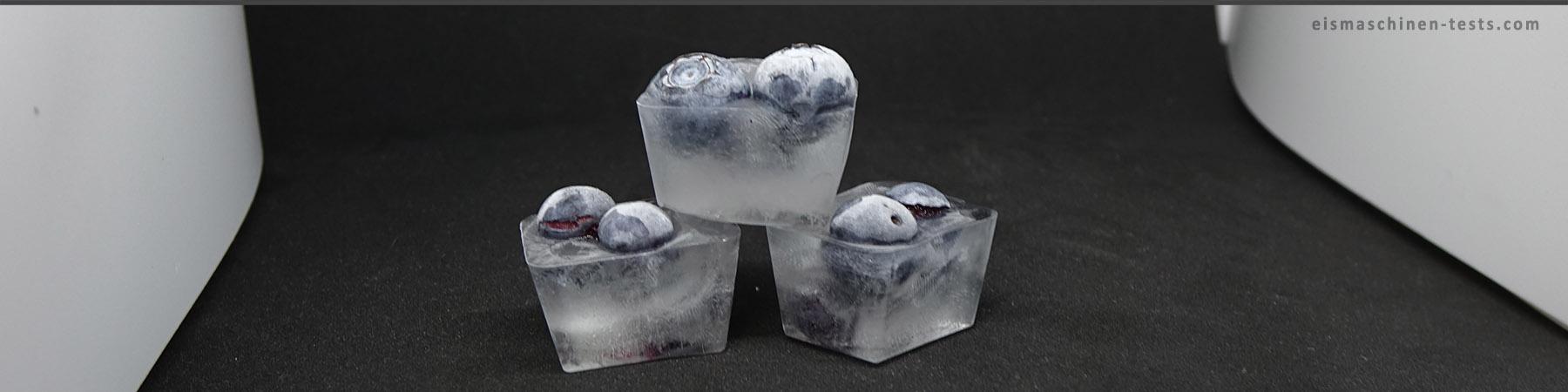 Blaubeeren Eiswürfel selber machen - Eismaschinen Tests com - Slider